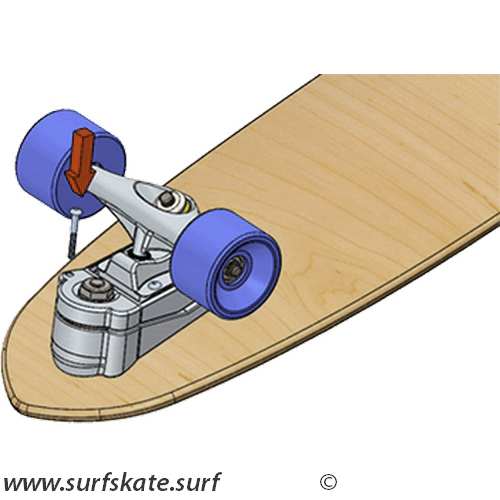 yow surfskate bloqueo eje