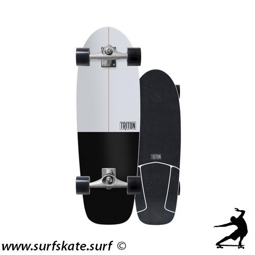 surfskate carver triton skateboards black star
