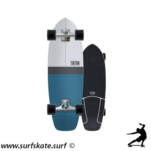 surfskate carver triton skateboards blue horizon
