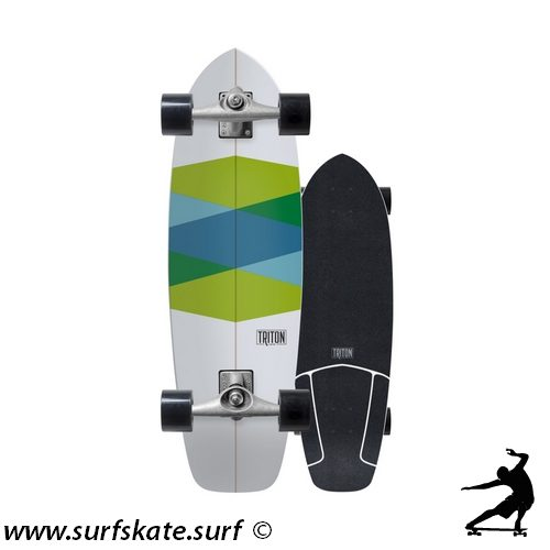 surfskate carver triton skateboards green glass