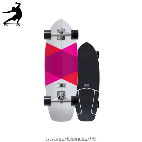 surfskate carver triton red diamond