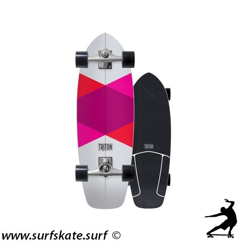 surfskate carver triton skateboards red diamond