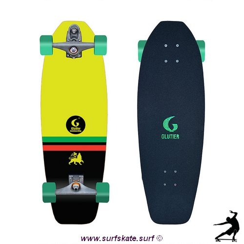 Glutier surfskate flame rasta 31,5