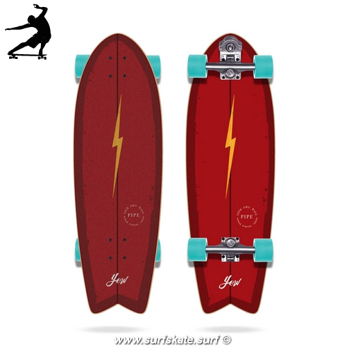 "Surfskate Yow Pipe 32"" Power Surfing Series"