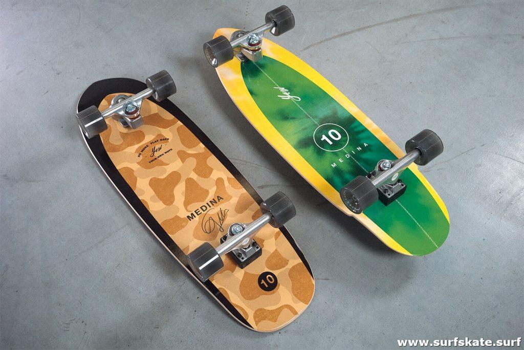 los dos modelos nuevos de surfskate yow de la serie gabriel medina