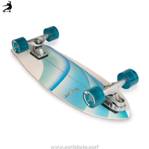 "SurfSkate Carver 30"" Emerald Peak Con Ejes C7 Raw"